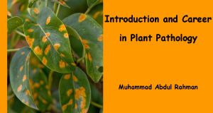 Introduction and Career in Plant Pathology | Arid Agriculture